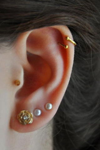 Bohemian Inspired Ear Piercing Ideas at MyBodiArt