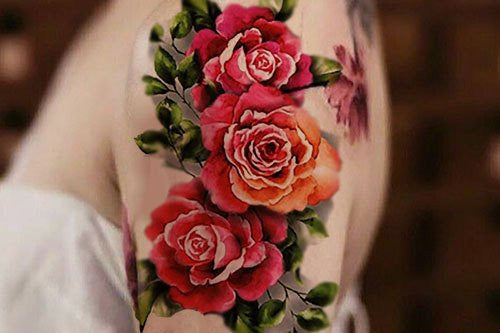 Flower Sleeve Tattoo Ideas at MyBodiArt.com