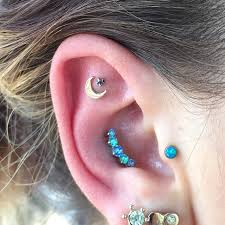 Piercing Ideas, Opal Tragus Jewelry, Opal Conch Piercing Jewelry