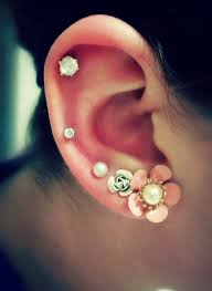 Cartilage Piercing Ideas, Crystal Studs