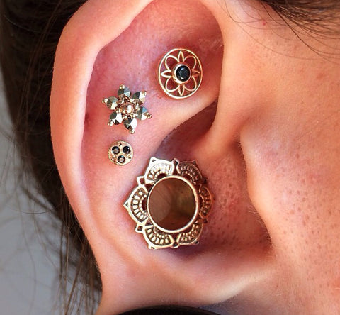 50 cute ear piercing combinations ideas jewelry at for Atomic tattoo piercing prices