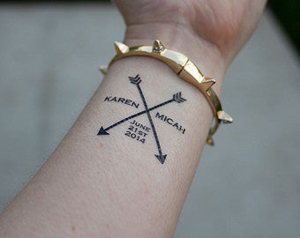 Couple Arrow Tattoo Ideas - MyBodiArt