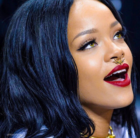 Rihanna Fake Septum Ring Jewelry at MyBodiArt