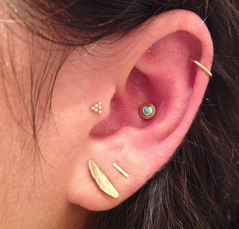 Awesome Ear Piercing Ideas at MyBodiArt for Conch Piercing Jewelry, Helix Ring, Tragus Earring at MyBodiArt
