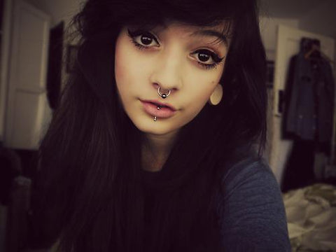Blackline Septum Piercing Ideas from MyBodiArt