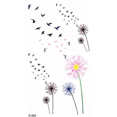 Watercolor Dandelion Floral Flower Temporary Tattoo Ideas for Women - www.MyBodiArt.com