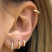 Multiple Cartilage Helix Hoop Ear Piercing Jewelry Ideas for Females for Women - www.MyBodiArt.com