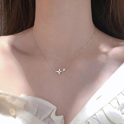 Cute Small Dainty Silver Chain Choker Necklace - www.MyBodiArt.com #necklaces