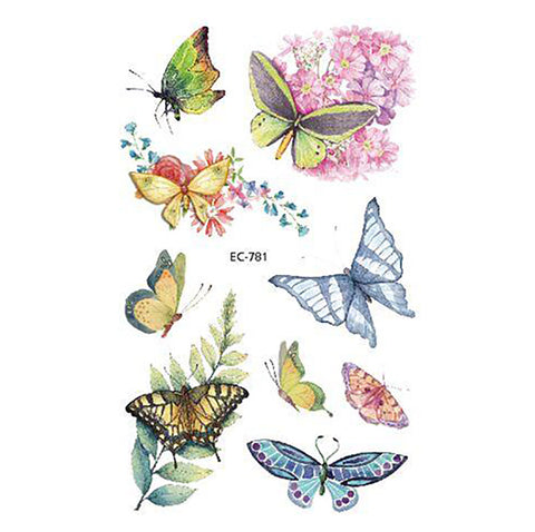Cute Watercolor Butterfly Temporary Tattoos - www.MyBodiArt.ccom #tattoos