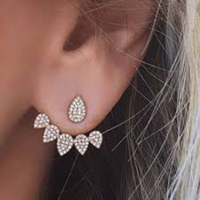 Cute Ear Piercing Ideas at MyBodiArt.com - Bella Crystal Ear Jacket Earring