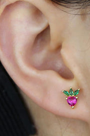Madeline Crystal Fruit Gold Earring Studs