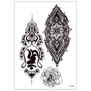 Emery Tribal Boho Geometric Black Mandala Linework Temporary Tattoo
