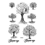 Women's Black Henna Enchanted Forest Tree Temporary Tattoo Set
