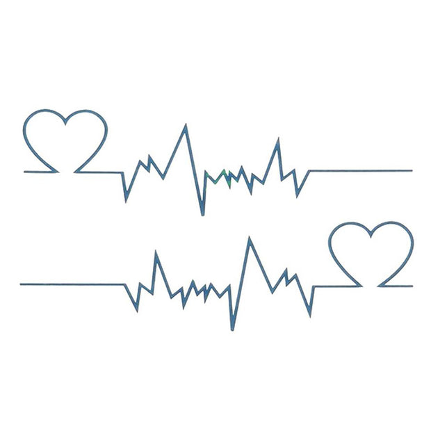 Thump Unique Heartbeat Heart Rhythm Temporary Tattoo
