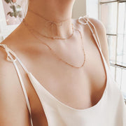 Cute Dainty Layered Bow Choker for Teen Girls - Simple Minimalist Bowtie Bowknot Necklace Jewelry for Women in Gold or Silver - Gargantilla de lazo lindo y delicado para chicas adolescentes  - www.MyBodiArt.com