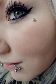 Cute Spiral Lip Piercing Ring Jewelry - www.MyBodiArt.com