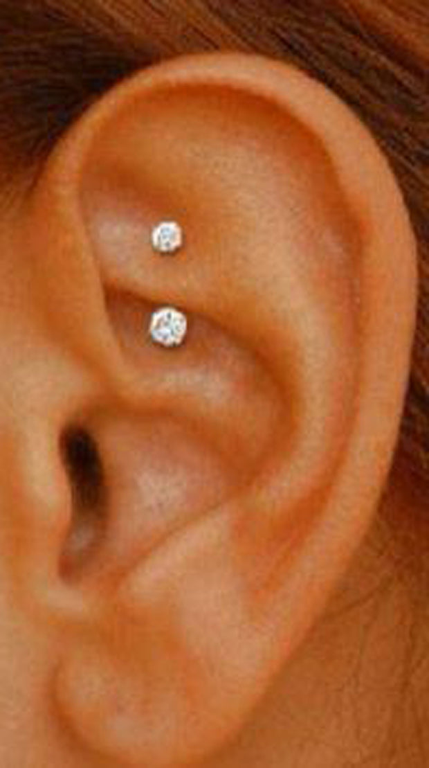 Simple Rook Ear Piercing Ideas Minimalist Curved Barbell Daith Earring for Women for Teens - www.MyBodiArt.com