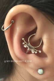 Simple Cute Ear Piercing Jewelry Ideas for Women - www.MyBodiArt.com