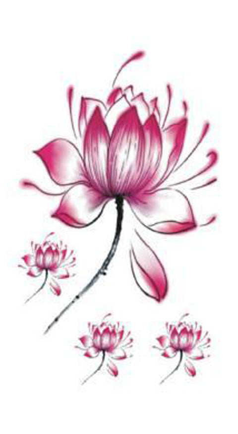 Small Watercolor Lotus Tattoo Ideas for Women - Cute Trendy Pink Floral Flower Tat for Teens -www.MyBodiArt.com #tattoos