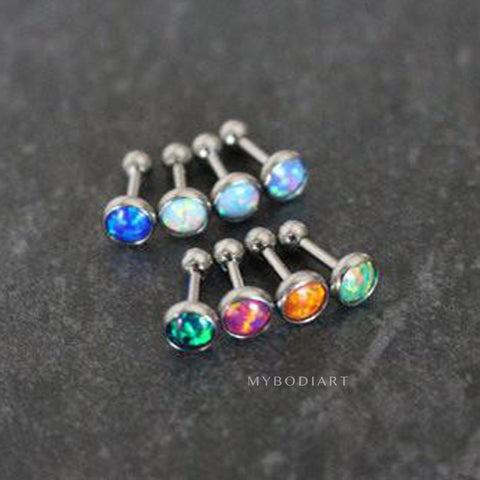 Dazzle Opal Ear Piercing in Opalite