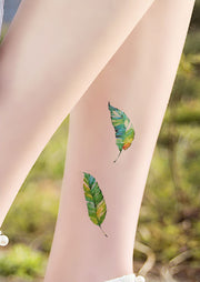 Small Minimalist Watercolor Leaf Leaves Leg Tattoo Ideas for Women - www.MyBodiArt.com #tattoos