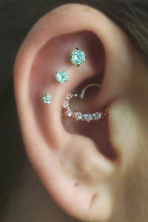 Swarovski Crystal Cartilage Earring Jewelry - Constellation Piercing - MyBodiArt.com