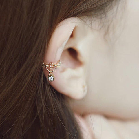 Beautiful Simple Ear Piercing Ideas - Conch Hoop - Auricle Ring - MyBodiArt.com