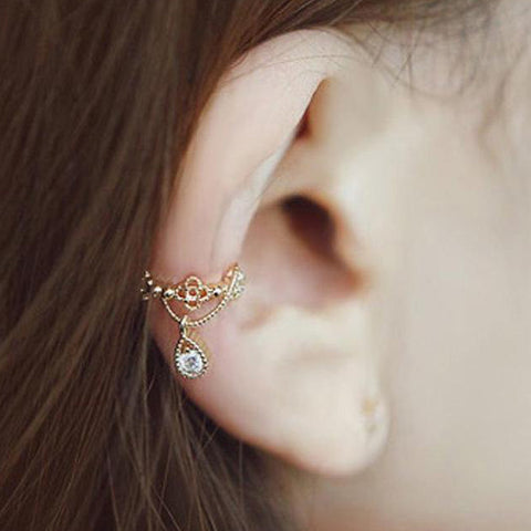 6b919dfdc9d0 Cute Crystal Gold Ear Cuff Earring for Women Fashion Jewelry - lindo arete  de oreja -
