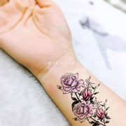 Cute Purple Watercolor Wrist Tattoo Ideas for Women -  Ideas de tatuajes de muñeca de flores de acuarela púrpura para mujeres - www.MyBodiArtt.com #tattoos