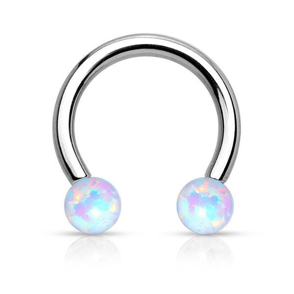 Andromeda Opal Ball 16G Horseshoe Barbell