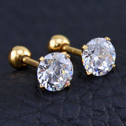 Crystal Ear Piercing Jewelry Ideas Earrings for Cartilage, Helix, Conch, Tragus, Earlobe in Gold  - www.MyBodiArt.com