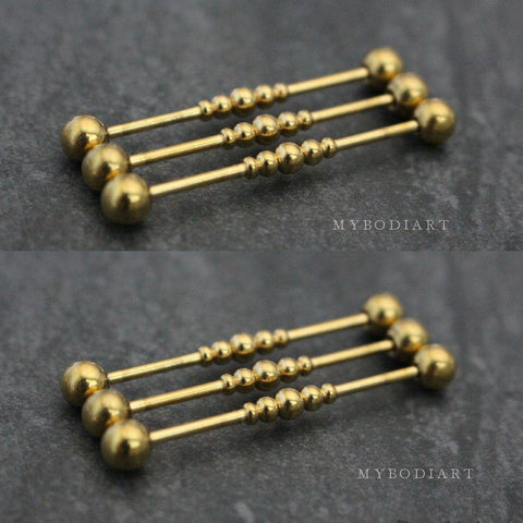 Trending Popular Industrial Barbell Scaffold Earring Jewelry - www.MyBodiArt.com