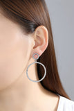 Classy Ear Piercing Ideas for Teen Girls - Large Double Crystal Hoop Earrings - Ideas elegantes Piercing del oído para las muchachas adolescentes - wwwMyBodiArt.com #earrings