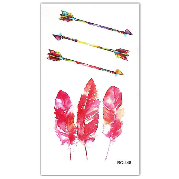 Cute Watercolor Arrow Temporary Tattoos for Women - www.MyBodiArt.com