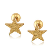Gold Glitter Star Cartilage Helix Conch Tragus Earring Stud 16G - lindas perforaciones múltiples Ideas para niñas adolescentes - www.MyBodiArt.com #earrings