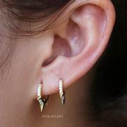 Cute Spiky Spikes Earring Earlobe Ear Piercing Jewelry Ideas for Women in Gold or Silver - pendientes de picos lindos -  www.MyBodiArt.com