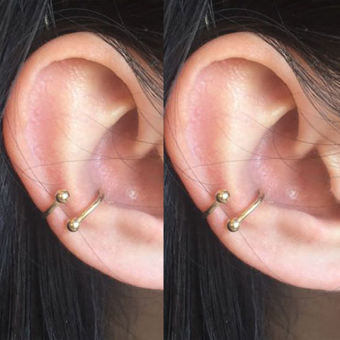 Different Cool Spiral Conch Cartilage Helix Ear Piercing Ring Hoop Earring Jewelry Ideas - www.MyBodiArt.com #piercings