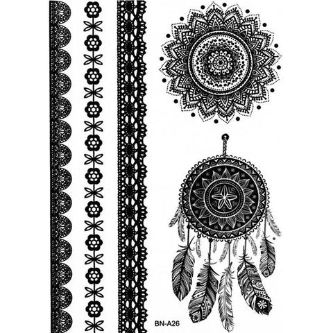 Nowa Dreamcatcher & Mandala Temporary Tattoo