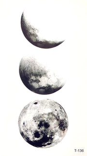 Black Cool Moon Phases Tattoo Ideas for Women  - www.MyBodiArt.com