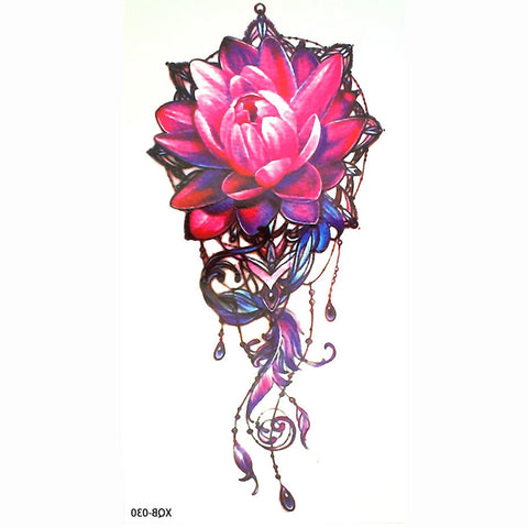 Cool Watercolor Lily Long Tattoo Ideas for Women - Pink Floral Flower Lotus Tat for Teen Girls - www.MyBodiArt.com #tattoos