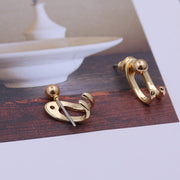 Cute Simple Ear Jacket Claw Earring Pearl Ear Piercing Ideas for Women in Gold or Silver www.MyBodiArt.com #earrings