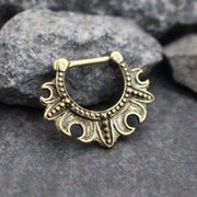 Blade Tribal Antiqued Bronze 16G Septum Clicker at MyBodiArt.com