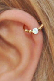 Andromeda Opal Ring Ear Piercing