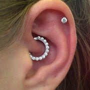 Crystal Daith Clicker Ear Piercing Jewelry at MyBodiArt