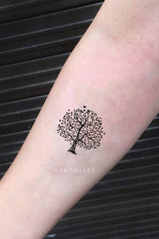 Cute Small Nature Tree Forearm Temporary Tattoo Ideas for Women - www.MyBodiArt.com