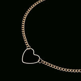 Simple Unique Heart Choker Necklace For Girlfriends -  collar de gargantilla de corazón -  www.MyBodiArt.com