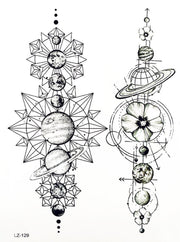 Cool Unique Black Moon Phases Temporary Tattoo Art Design Ideas Women's Teens Girls - www.MyBodiArt.com #tattoos