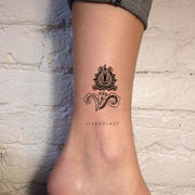 Tribal Small Black Henna Lotus Mandala Ankle Tattoo Ideas for Women -  Pequeño tatuaje de loto en el tobillo para mujeres - www.MyBodiArt.com