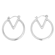 Modern Ear Piercing Ideas for Women - Abstract Geometric Triangle Ring Hoop Earrings - www.MyBodiArt.com