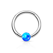 Andromeda Opal Ball Interchangeable Captive Bead Ring Set